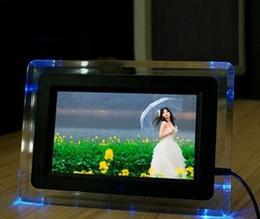 """7 """"TFT-LCD Multi-fonctionnel Photo numérique Cadre photo Lecteur MP3 MP4 Réveil Voyant Clignotant Télécommande Bureau ? partir de fabricateur"""
