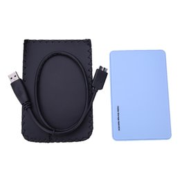 """Wholesale External Hard Drive Bags - Wholesale- New Arrival High Speed External HDD Enclosure 2.5"""" inch USB 3.0 Hard Disk Drive Enclosure Case with Carrying case bag"""