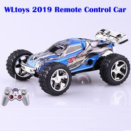 Wholesale Rc 32 - Wholesale- WLtoys 6 CH 1:32 WL 2019 Remote Control Dirt Bike Electric RC Car High Speed ( 20-30km hour) 5-Speed Turbo Control Ready-to-Go