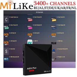 Wholesale Wholesale Tvs Canada - Wholesaleprice factory Android 7.1 A5X plus mini 4K tv set top box streaming iptv account europe arabic french USA Canada Sweden Africa