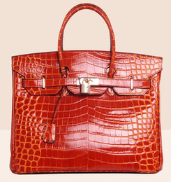 Wholesale Ladies Leather Shoulder Bags Uk - crocodile bags tote shoulder bride wendding bag purse clutch flap women wallet handbag tote lady UK France BE genuine leather US EUR