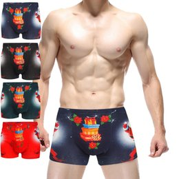 Wholesale Strawberry Boxers - men cotton strawberry printe boxers panties  fancy roaming tiger men boxers panties underwear  Cotton ld underwear
