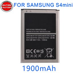 Wholesale Galaxy S4mini - Battery for samsung Galaxy S4mini 19190 19195 19192 19198 Witn Free Shipping S4mini Cellphone Lithium Battery For B500AE hight quality .