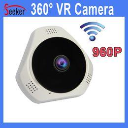 Wholesale Cctv Camera Tf Card - Wholesale Free Shipping CCTV Security 360 Degree Wireless IP cameras Wifi 960P VR Camera TF Card P2P Cloud Night Vision