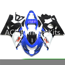Wholesale K4 Fairings - 3 free gifts New Suzuki GSXR600 GSXR750 K4 K5 04 05 2004 2005 Injection ABS Plastic Motorcycle Fairing Blue white black style