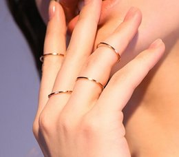 Wholesale Female Ring Finger - Viennois Brand New Wide Gold Color Multilayer Hollow Rings for Women Trendy Stack Ring Jewelry Female Finger Ring