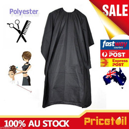 Wholesale hair salon gowns - Barber Gown Cloth Hair Cutting Gown Hairdressing Cape Nylon Styling Pro Salon