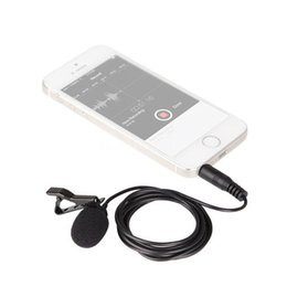 Wholesale Free Cell Ipad - BOYA BY-LM10 Omnidirectional Lapel Clip-on Hands-free Lavalier Condenser 3.5mm Jack Microphone Mic for iPhone iPad iPod Smartphones