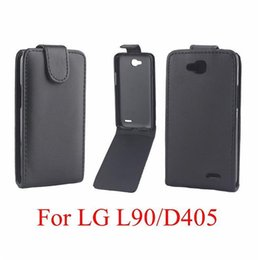 Wholesale Lg Optimus Black Covers - Phone Bags Cover For LG Optimus L90 phone case Back coque PU leather Flip Vertical Up-Down Open skin pouch