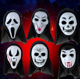 Wholesale Ghost Scream Mask - Halloween Mask Scary Ghost Mask Scream Costume Party Creepy Skull Scary Ghosts Masks Cosplay Costumes Prop 1000pcs OOA3066