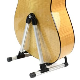 Marco de piso online-FL-04 Folding Electric Acoustic Bass Guitar Stand A Frame Frame Rack Holder wholesale