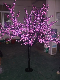 Wholesale Led Cherry Flowers - free shipping LED cherry tree light, 1248LEDs ,pink LED with cherry flowers led christmas tree light LLFA