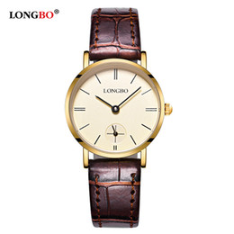Wholesale Wholesale Luxury Brand Products - 2017 Hot Sale Product Girls Students Watches Leather Band Quartz Watches Clock Mens Watches Top Brand Luxury Longbo Timepieces orologi uomo