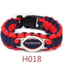 Wholesale England Patriots - Survival Paracord Bracelet Strand Patriot Paracord Bracelet England Patriots Super Bowl Championship Rugby team The umbrella rope Bracelet