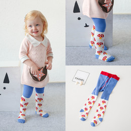 Wholesale Kid Winter Pant Korean - Cute Baby Girls Pantyhose Cartoon Mushroom Children Leggings Tights Socks kids legging Hot Korean Girl's Clothing PP Pants Tight A6772