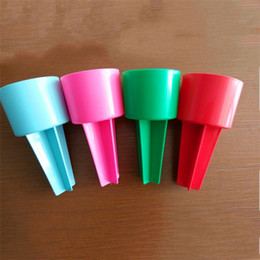 Wholesale Portable Sand - Monogrammable Plastic Beach Spiker 2017 Newest Portable Personalized Beach Spike Sand Spike Beach Cup Holder Drink Holder Sand Cup
