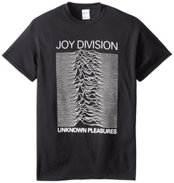 Wholesale High Pleasure - Joy Division Unknown Pleasures Shirt new High Quality 100% Cotton men's T Shirt cheap sold Free shipping