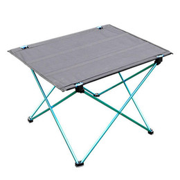 Aluminium-tisch tisch online-1pc Portable Outdoor Folding Table Ultra-light Aluminum Alloy Structure Camping Table Picnic dinner Table Furniture 3 colors