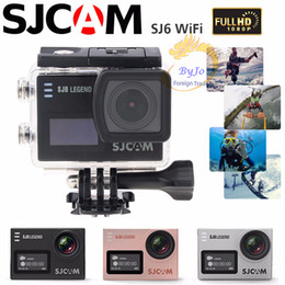 Original sjcam sj6 esportes câmera wi-fi 4 k 24fps hd ultra câmera à prova d 'água notevek 96660 câmera de ação à prova d' água 2 polegada de tela de toque de Fornecedores de relógio inteligente q18