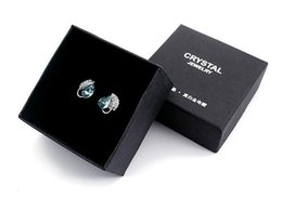 Wholesale Collections Necklace Earrings - black Austria crystal Jewelry packing box Necklace Bracelet Ring Earrings Pendant Jewelry display box Collection box 7*7*3.7cm