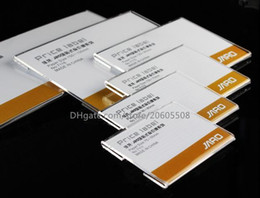 Wholesale Label Frame - Wholesale 50pcs Acrylic T1.2mm Plastic Price Tag Sign Label frame Display Wall Sticker Paper Advertising Promotion Name Card Holders