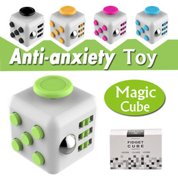 Wholesale Kids Magic Toys - Magic Fidget Cube Anti-anxiety Decompression Toy Adults Stress Relief Kids Toy Gift 11 Colors