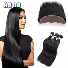 Wholesale Brazilian Hair Frontals - Queen Love Hair Lace Frontals With Straight Hair And Bundles Full Frontal Closure With Human Hair weaves Brazillian Straight
