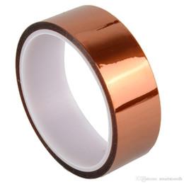 Wholesale Wholesale Epoxy Glue - Kapton Tape Sticky High Temperature Heat Resistant Polyimide 30mm 3cm 30M B00165 JUST