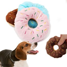 Wholesale Donut Dog Toy - 3 Colors Donut Play Toys Dog Cat Squeaker Quack Sound Toy Hot Sale Puppy Pet Chew Toys