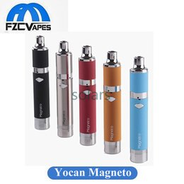 Wholesale Original Yocan Magneto Wax Kit mAh Portable Wax Vaporizer E Cigarette Dab Tool with Ceramic Coil Silicon Bar Provides Better Experience
