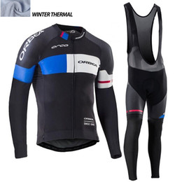Wholesale Orbea Cycle Clothing - 2017 Orbea Men Winter thermal Fleece cycling clothing long sleeve Pro cycling jersey  bib long pants winter cycling clothes hombre Riding