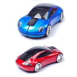 Wholesale Mini Car Shaped Computer Mouse - Portable Wireless Mouse 2.4Ghz USB Car Shape Button Mini LED Optical Gaming Mice For PC Laptop Computer Multicolors