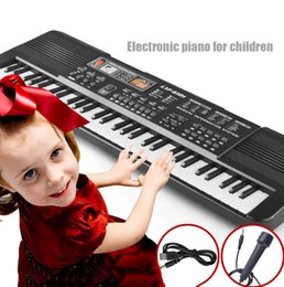 Wholesale Bulk Stuffed - Bulk Lots 61 Keys In Stock Lepin Electric Organ Children Great Gifts Item With Microphone Musical Instrument Stuff