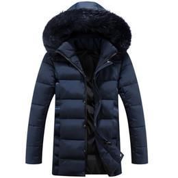 Wholesale Long Jackets Fur Hood Mens - Winter Coat Men long Parka With Fur Hood Jacket Mens Casual Thick Warm Winter Long Down Coats Chaqueta Hombre Invierno Jackets