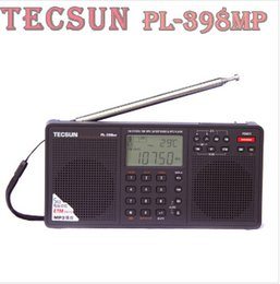 Wholesale Internet Radio Free Shipping - Wholesale-Tecsun PL-398MP mp3 radio Full Band Digital Tuning Stereo Receiver Stand and mp3 internet radio Black Free Shipping