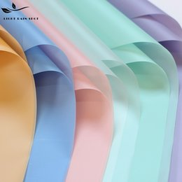 Wholesale Eco Friendly Paper Packaging - DIY Flower Wrapping Paper Thickened Waterproof Solid Colors Packing Papers Translucent Eco Friendly Flowers Package Supplies New 12yd B