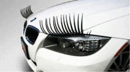 Wholesale automotive cartoons - 2 X Auto 3D Eyelash 3D Automotive eyelashes car eye lashes 3D car logo sticker 2pcs = 1 pair