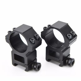 Wholesale Dovetail Weaver Rail - Gun Accessories Optical Sight Bracket Metal Dovetail Rifle Scope Mount Ring Weaver High 20mm Mount Dia 30mm Outdoor Hunting Tool