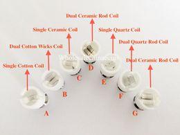 Wholesale Glass Globe Nails - Glass Globe dual Ceramic Titanium Wicks replacement COIL Nail ATOMIZER vaporizer VAPE PEN Coil For globe Dome set Dual Wax Dry herb Coils