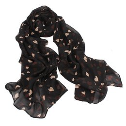 Wholesale Heart Accessories For Scarf - Wholesale-Durable New Fashion Famous Brand Women Girls Love Heart Print Soft Long Scarf For Women Accessories Wholesale&Free Shipping