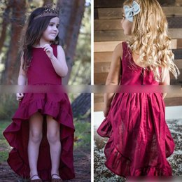 Wholesale Party Swallow - Bohemia Fashion Baby Girls Dress Irregular Party Dresses Kids Clothes Sleeveless Girl's Clothing Swallow Tail Dress Wine Red A6460