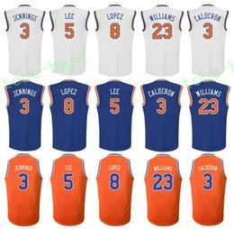 Wholesale Brandon Shirts - New Printed 23 Derrick Williams Jersey Blue White Orange Uniform 3 Brandon Jennings Shirt 5 Courtney Lee 8 Robin Lopez 3 Jose Calderon
