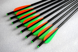 Wholesale Arrow Archery - 6 Pcs Crossbow Arrows Fiber Glass Crossbow Bolt 17Inch Archery Hunting Slingshot Arrow Tip