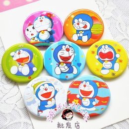 Wholesale Doraemon Birthday - Wholesale-10pcs lot Cute Doraemon Cartoon badge happy birthday party supply baby shower favor gift for boy girl