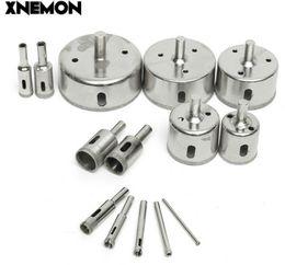 XNEMON 14pcs Diamond Hole Saw Core Core Drill Bit Set Piastrelle Marmo Vetro 3-70mm Cutter 3 5 6 8 10 12 16 18 20 30 40 50 60 70mm cheap drilled glass marbles da marmi in vetro forato fornitori