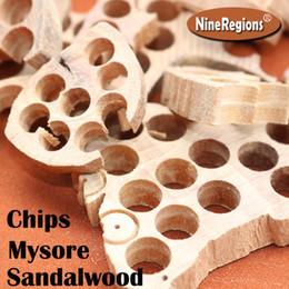 Wholesale Natural Wood Blocks - 50g bag Fragrant wood block Rich oil High density Strong milk aromatic Genuine Natural Indian Mysore Sandalwood beads bracelet chips