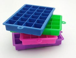Wholesale Grid Squares - New 24 grid Cube Mold Square Shape Silicone Ice Tray Fruit Ice Cube Ice Cream Maker Kitchen Bar Drinking Accessories