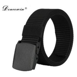 Wholesale Wholesale Designer Mens Belts - High Quality Automatic Buckle Nylon Belt Male Army Tactical Belt Jeans Mens Luxury Waist Designer Belts Men Strap Ceinture Femme