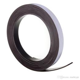 Wholesale Magnetic Meters - 3 Meters Self Adhesive Magnetic Tape Magnet Strip 12.7mm(1 2 Inch) Wide