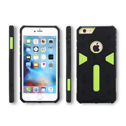 Wholesale Ace Silicone - Defending Armor Case For iPhone 5 5S SE 6 6S Plus Samsung S6 Edge Plus S7 NOTE 5 J1 ACE A8 Double Layer PC Silicone Hybrid Shockproof Cover